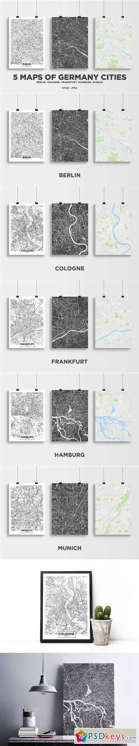 5 maps of Germany cities 2534028