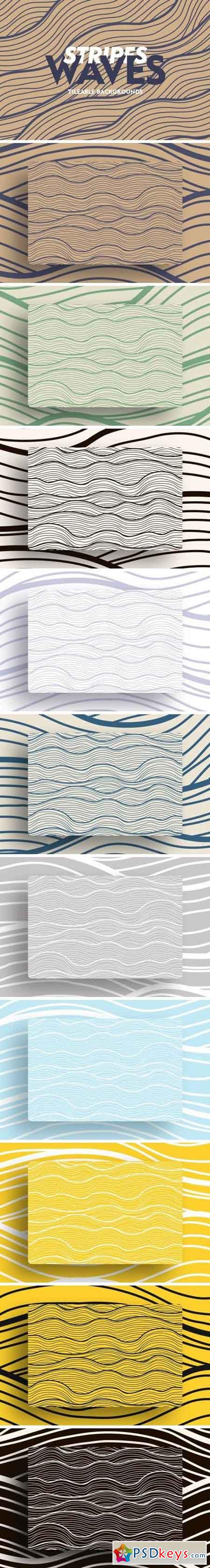 Stripe Waves Tileable Backgrounds