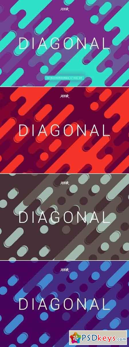 Diagonal Rounded Lines Backgrounds Vol. 02