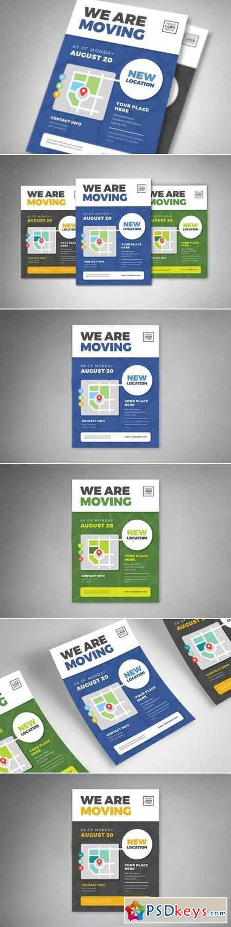 We Are Moving Flyer Templates