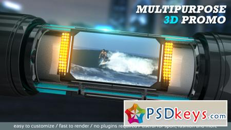 Multipurpose 3D Promo 13307684 - After Effects Projects