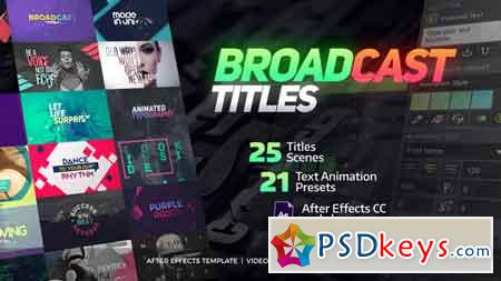 TypeX - Text Animation Tool Broadcast Pack Modern Colorful Typography Titles V2.0.2 20233979 - After Effects Projects