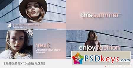 Broadcast Text Shadow Package After Effects Template 10648578