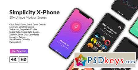 Simplicity X-Phone Promo After Effects Template 21462845