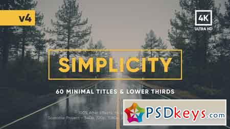 Simplicity Title Pack V4 After Effects Template 17957957