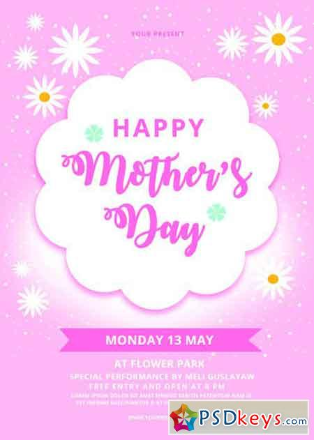 Happy Mother s day flyer template 2515121