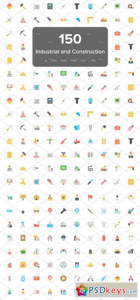 150 Industrial and Construction Icon 2517846