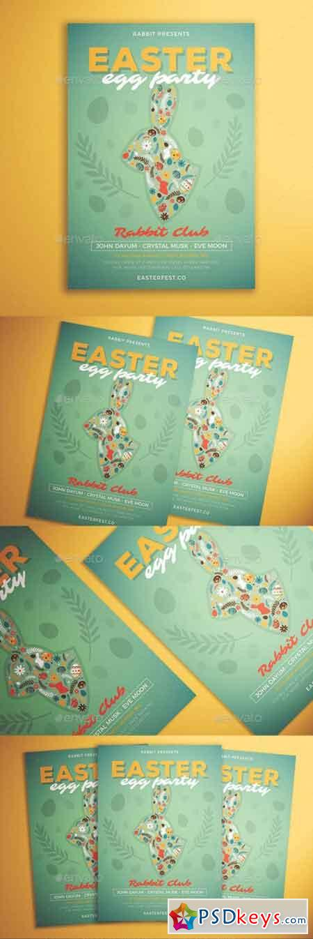 Easter Egg Party Flyer 21457367