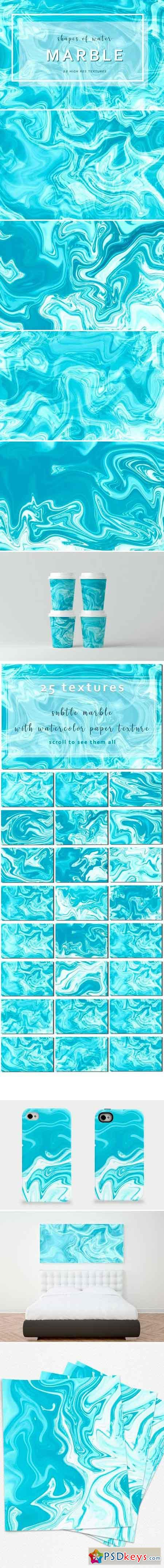 25 Marble Textures Shapes of Water 2515237