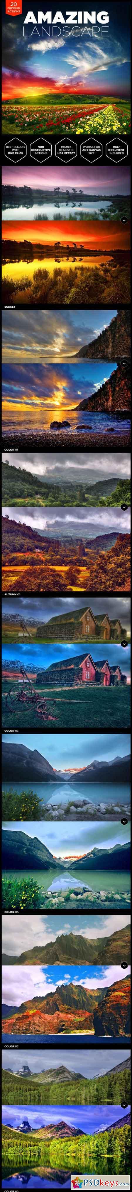 Landscape Photoshop Actions 15370875