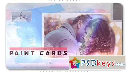 Painted Cards of Memories Slideshow After Effects Template 21272842