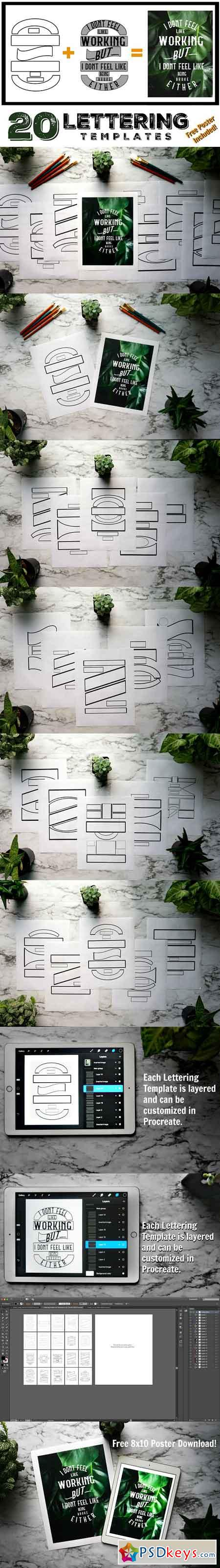 Lettering Composition Templates 2554333