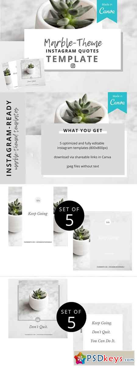 Marble-Theme Instagram Template 2554556