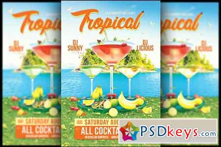 Tropical Cocktail Flyer 2555924