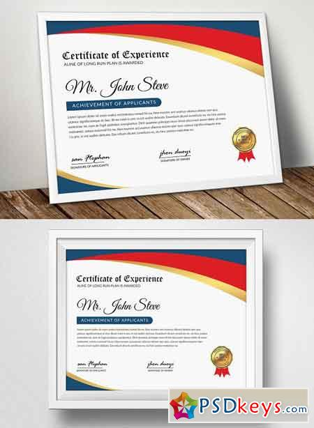 Company Word Certificate Template 2555023