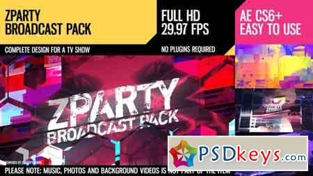 zParty (Broadcast Pack) After Effects Template 20154129