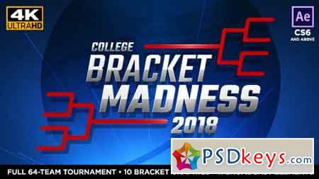 College Basketball Bracket Madness After Effects Template 19575091