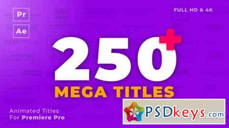 Mogrt Titles - 250 Animated Titles for Premiere Pro & After Effects 21765077
