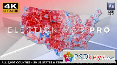 Election Map PRO After Effects Template 17959439