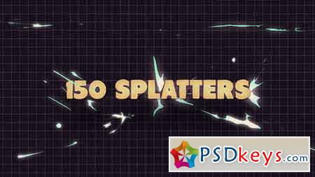 150 Splatter Animations + Opener After Effects Template 10321894