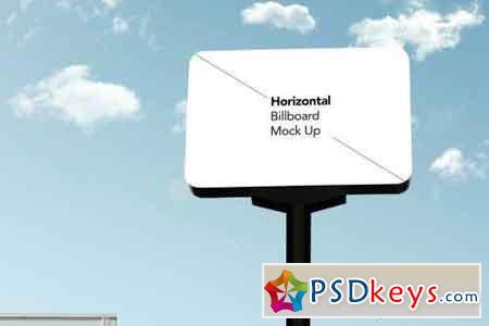 Rounded Horizontal Billboard Mock Up