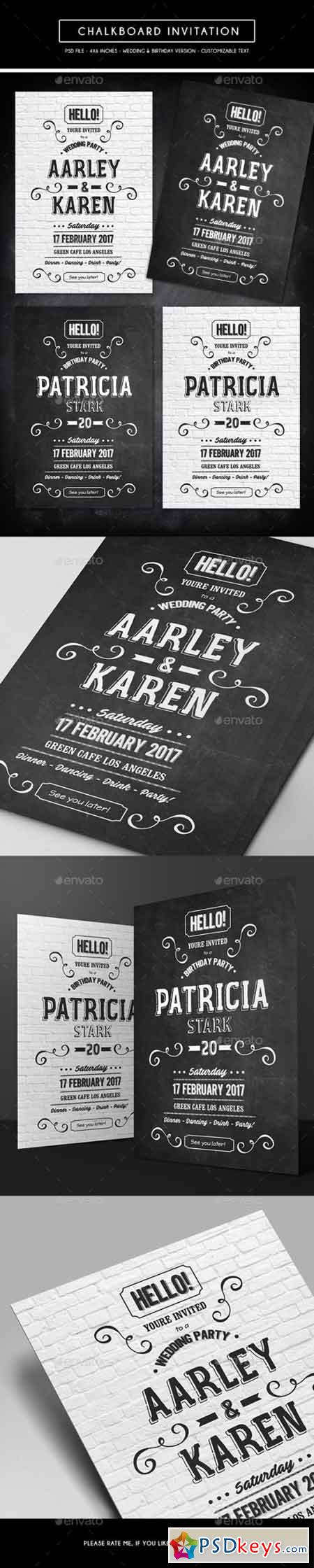 Chalkboard Invitation 15292314