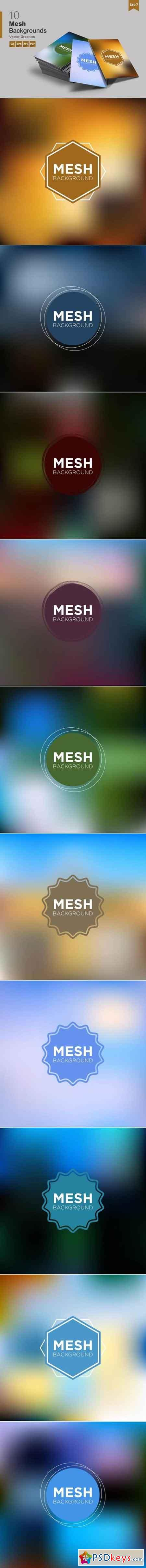 10 Mesh Abstract Backgrounds