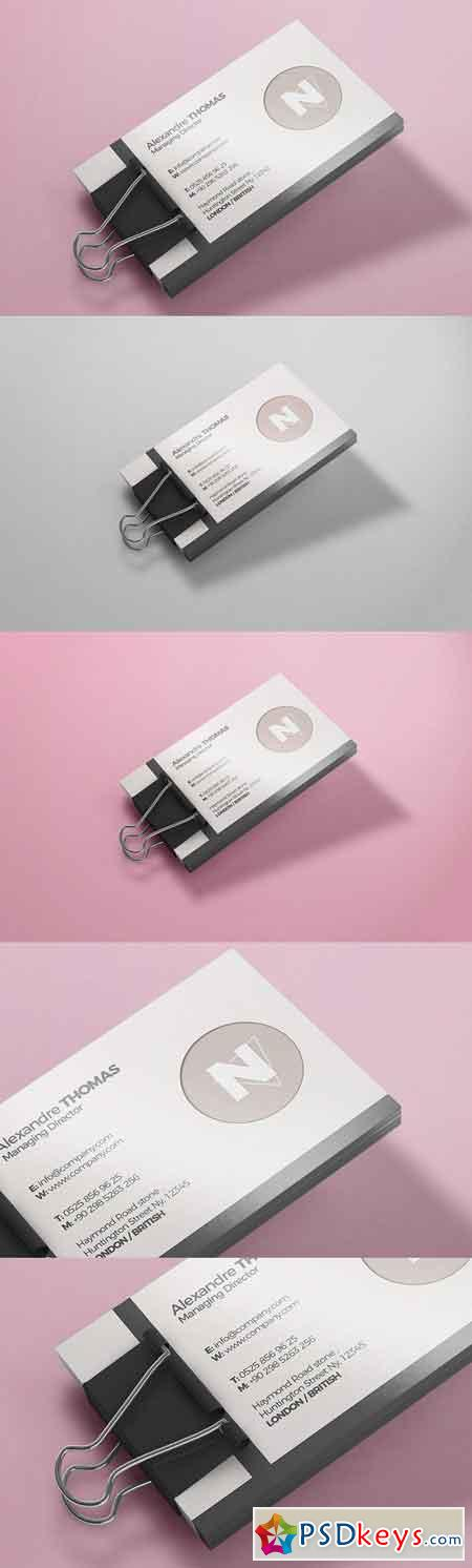 Business Card Mock-Up 4 2633430
