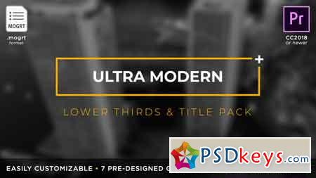 Ultra Modern Titles & Lower Thirds MOGRT for Premiere Pro 21879654