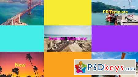 Summer Multi Slideshow Premiere Pro Templates 85927