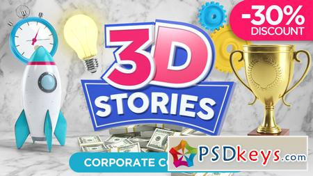 3D STORIES Icons Explainer Toolkit After Effects Template 21562016