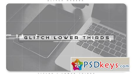Glitch Modern Lower Thirds After Effects Template 20952949