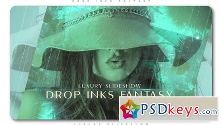 Drop Inks Fantasy Luxury Slideshow After Effects Template 21387456