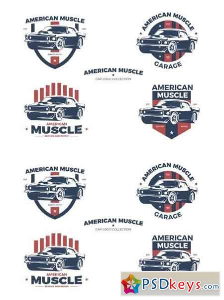American Muscle Car Logo Collection