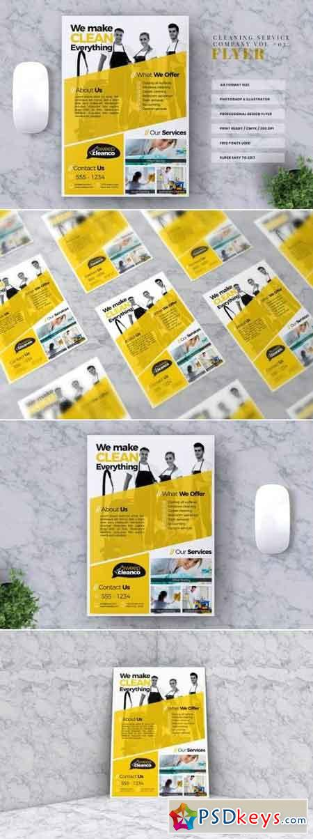Cleaning Service Flyer Template Vol #03