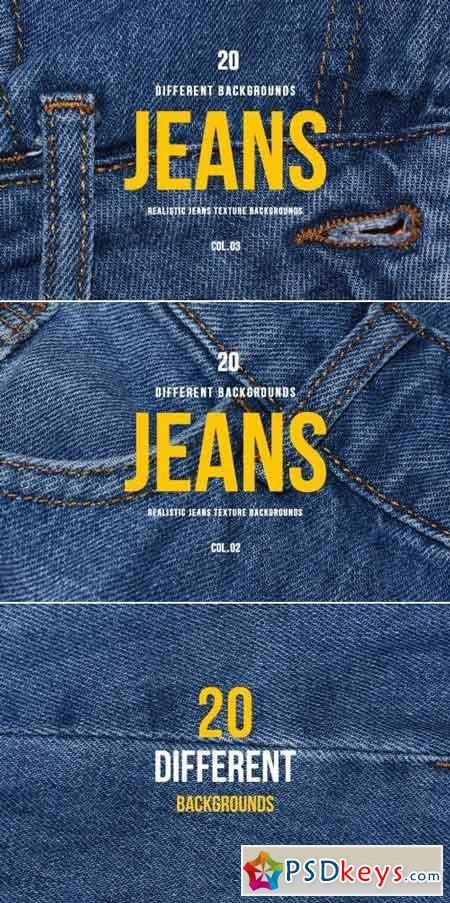 Realistic Jeans Texture Backgrounds COL.02 & COL.03