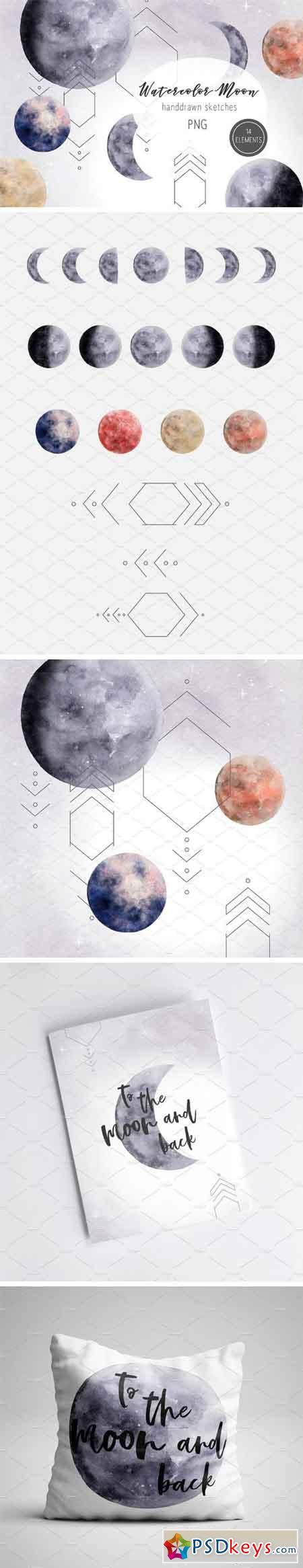 Watercolor Moon 2510121