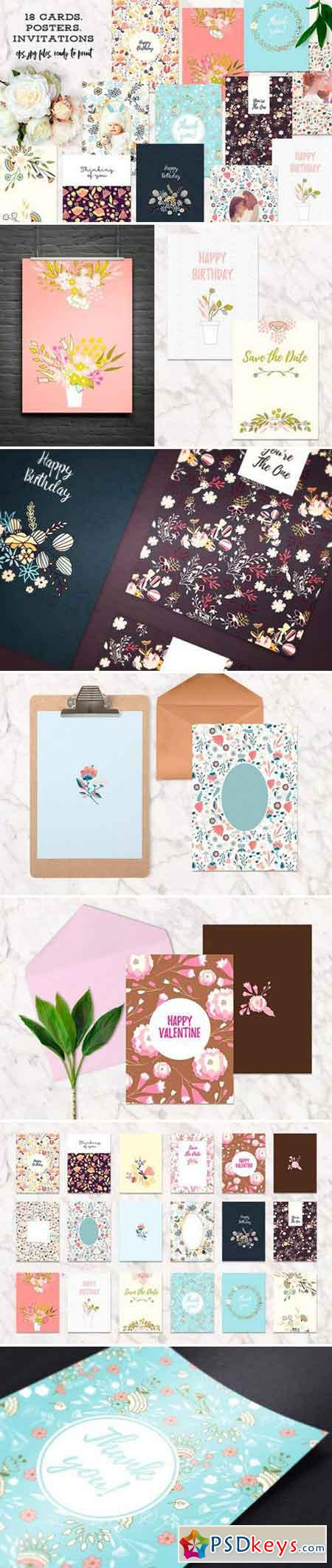 18 Cards, Invitations or Posters 902899