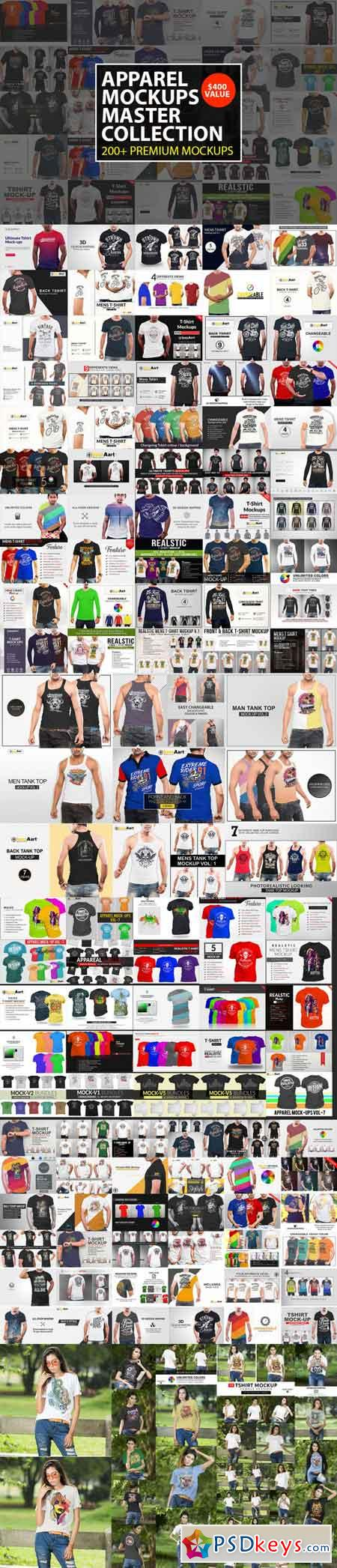 Apparel Mock Ups Master Collection 3458775