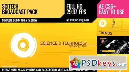 SciTech (Broadcast Pack) After Effects Template 9350277