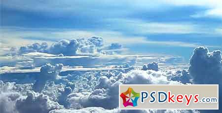 Flying Above the Clouds 3 (Stock Footage) 1744995