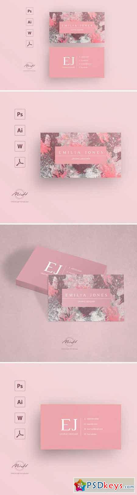 Marble business card template 2543756