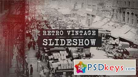 Retro Vintage Slideshow After Effects Template 20935728