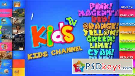 Kids And Family Channel Broadcast Graphics Package After Effects Template 20904879