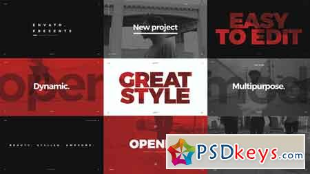 Modern Typo Opener After Effects Template 21867526 » Free