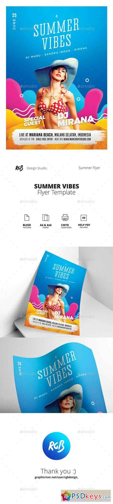 Summer Vibes Flyer Poster 22080476