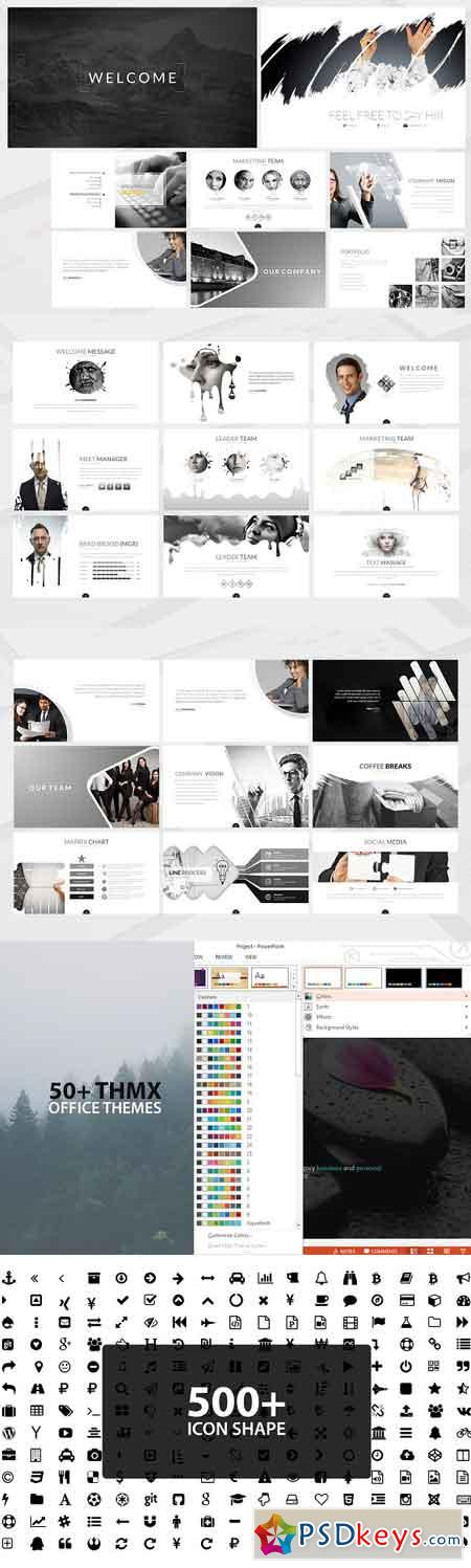 Kuro Powerpoint Template 2572681