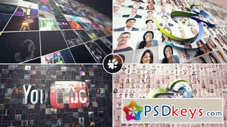 Multi Video 3D Logo After Effects Template 21888253