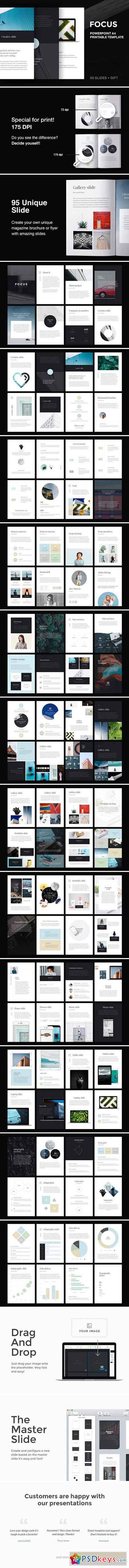 A4 Focus PowerPoint Template 2539420