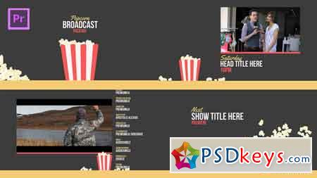 Popcorn Broadcast Package Essential Graphics Mogrt After Effects Template 21667680